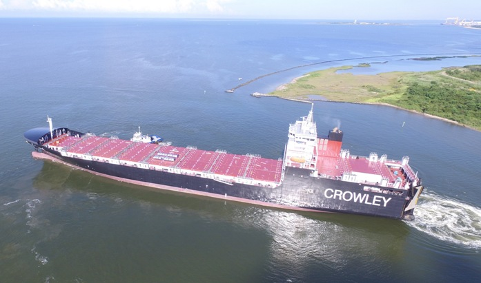 Crowley Takes Delivery of First LNG-Powered ConRo Ship Serving Puerto Rico