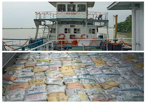 1233 Tonnes of Fly Ash Set Sail From Ganga to Brahmaputra Through National Waterways