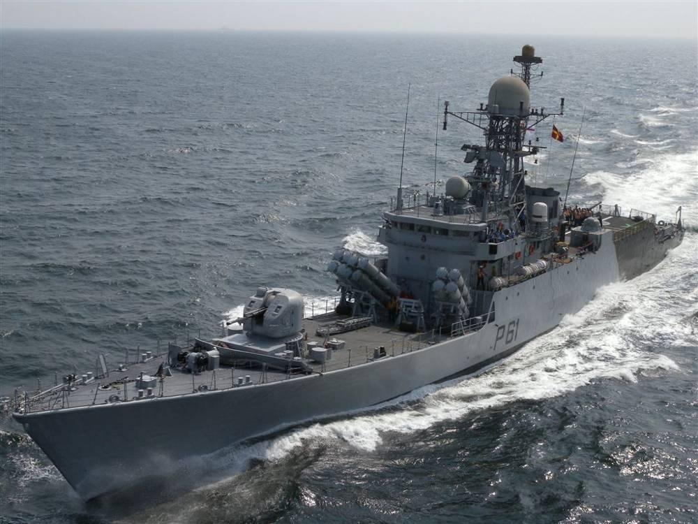 Indian Naval Ships at Trincomalee, Sri Lanka for Slinex-18