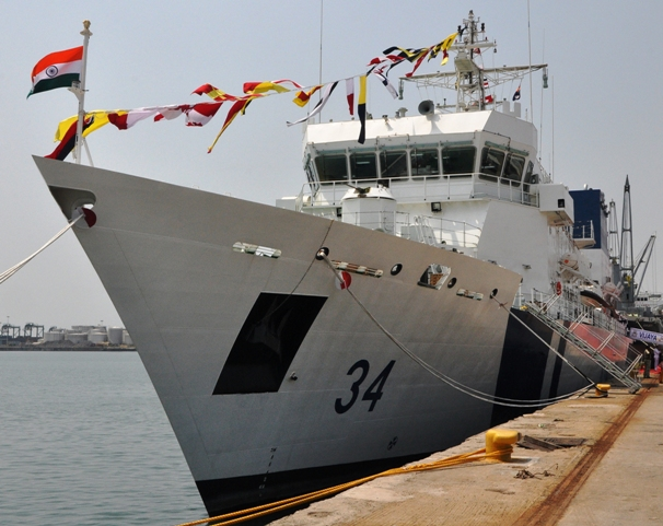 Indian Coast Guard's Offshore Patrol Vessel Vijaya Commissioned in Chennai