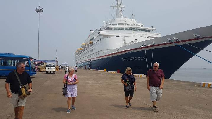Season's Second Cruise Ship Anchors at Mormugao Port, Goa