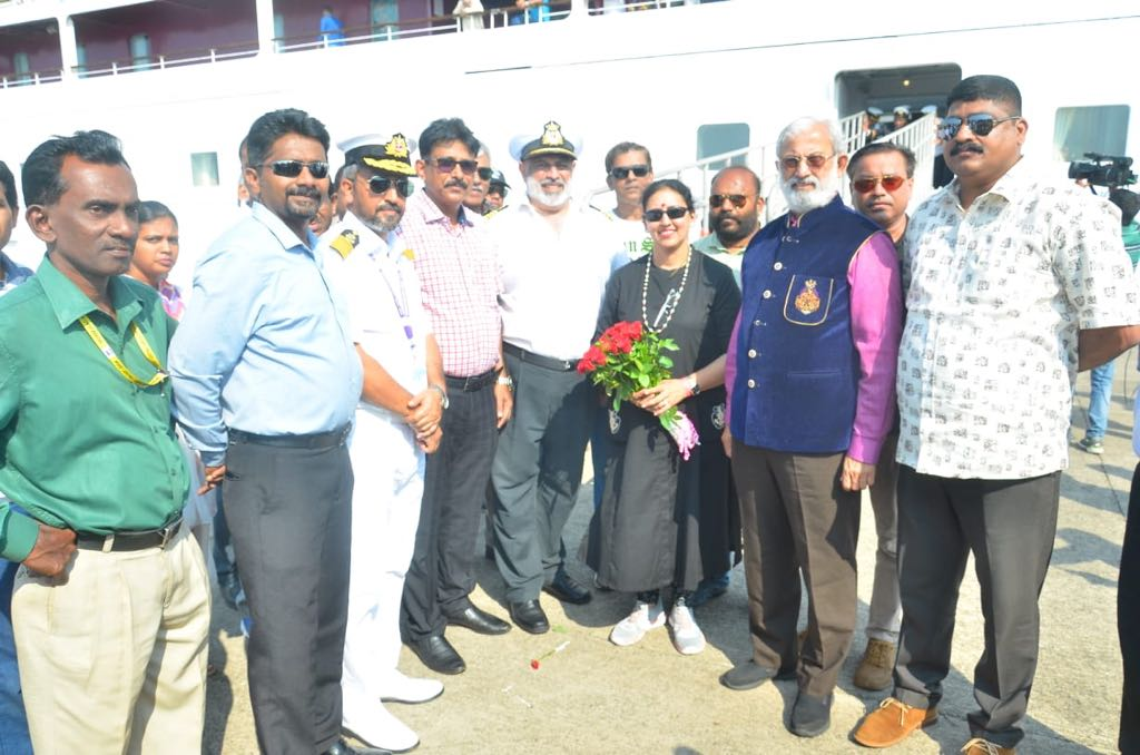 Mormugao Port Welcomes Inaugural Visit of Domestic Cruise Liner