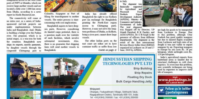 Port Wings Maritime Weekly Newspaper 24 July 2019 E-paper
